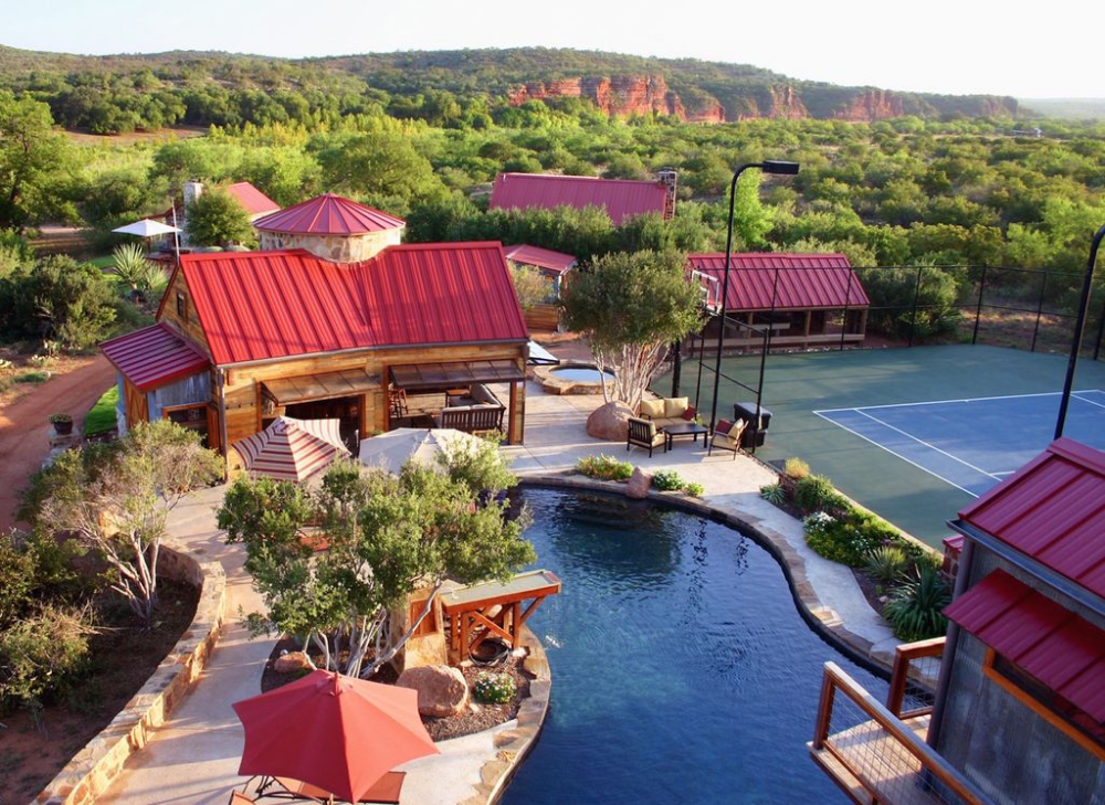 Red Sands Ranch River Resort Sleeps 12 37 Private Tennis Pool Airstrip New Mason Texas Guest Cabin Pool Vacation Rental