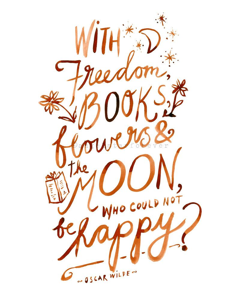 Freedom Books Flowers And The Moon Print By Angelstarforever On Etsy