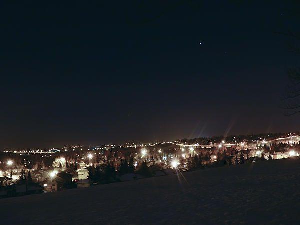 A cold winter night in Calgary.