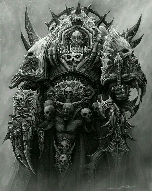 Abaddon the Despoiler  Current warmaster of chaos undivided