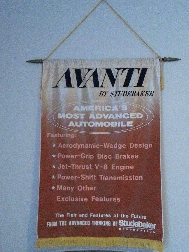 Avanti Showroom Banner Studebaker Jet Thrust Transmission