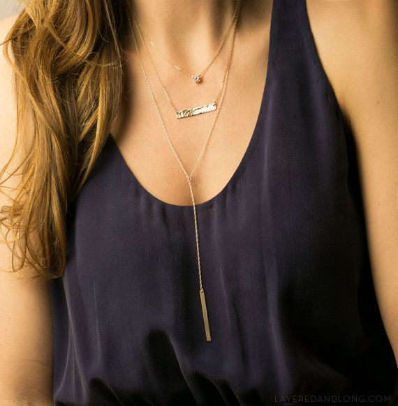 Layered Delicate Set Of 3 Necklaces Wear Them One At A