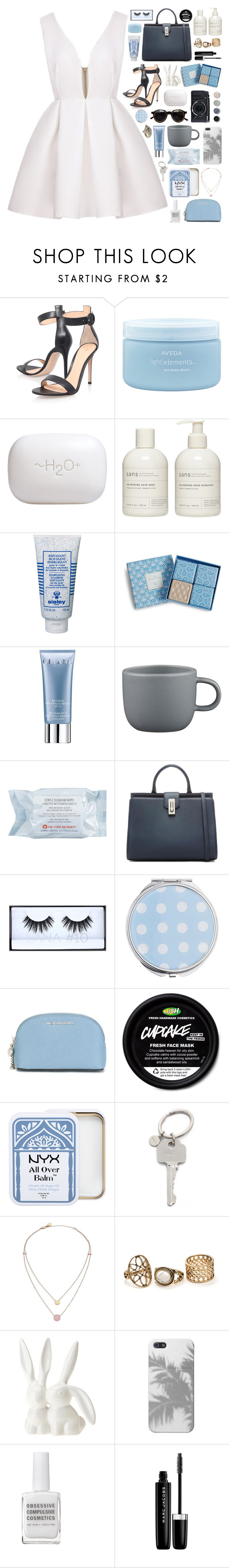 """""""graduation ❁"""" by www-purrtydino-org ❤ liked on Polyvore featuring Gianvito Rossi, Aveda, H2O+, Sans [ceuticals], Sisley Paris, Vera Bradley, Orlane, CB2, First Aid Beauty and Miss Selfridge"""