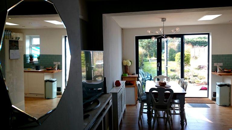 Geometric kitchen extension