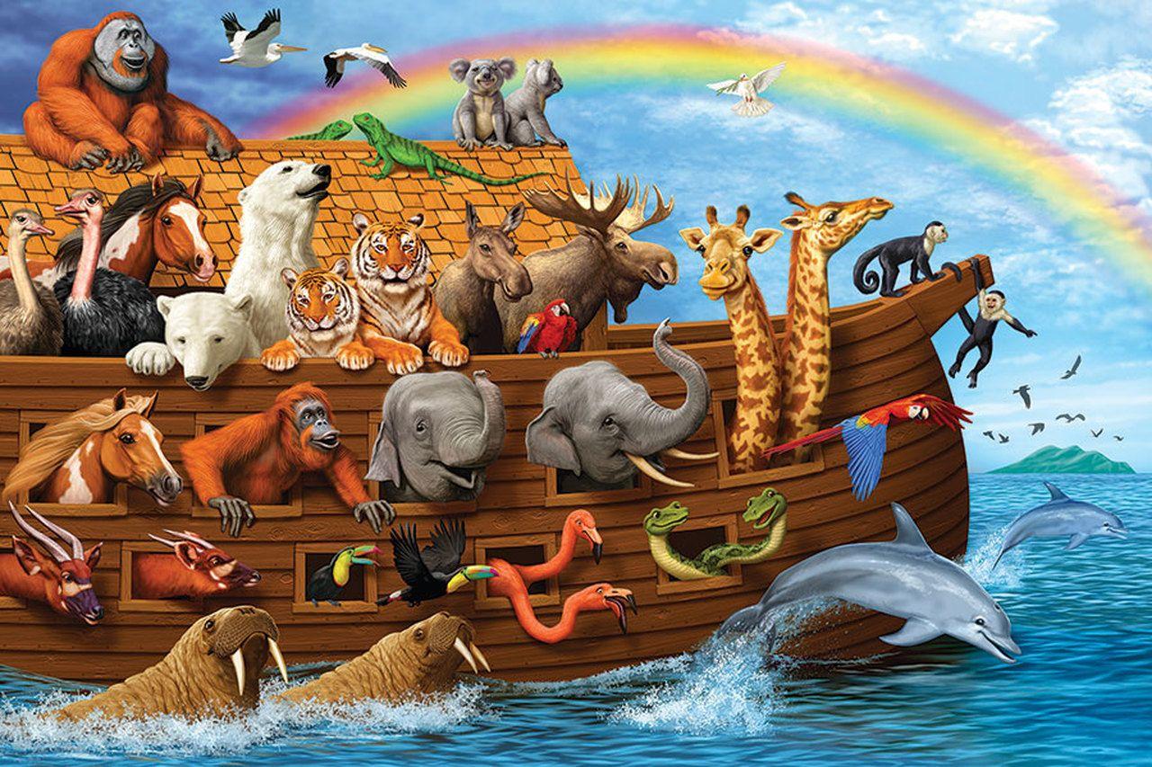 Noah S Ark 36pc Floor Puzzle By Cobble Hill Noahs Ark Animals Noahs Ark Animal Crafts