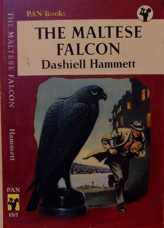 The Maltese Falcon By Dashiell Hammett Pan Crime Book Cover Crime Fiction Novels Dashiell Hammett