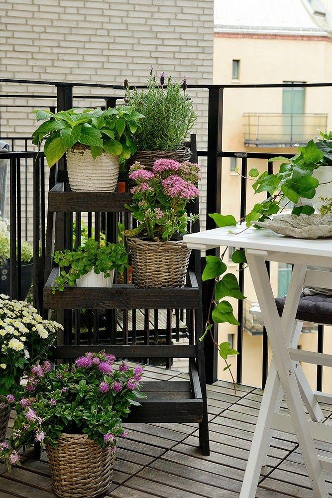 Carreaux De Ciment Pour L Entree Jardin De Petit De Balcon Deco Balcon Et Terrasse