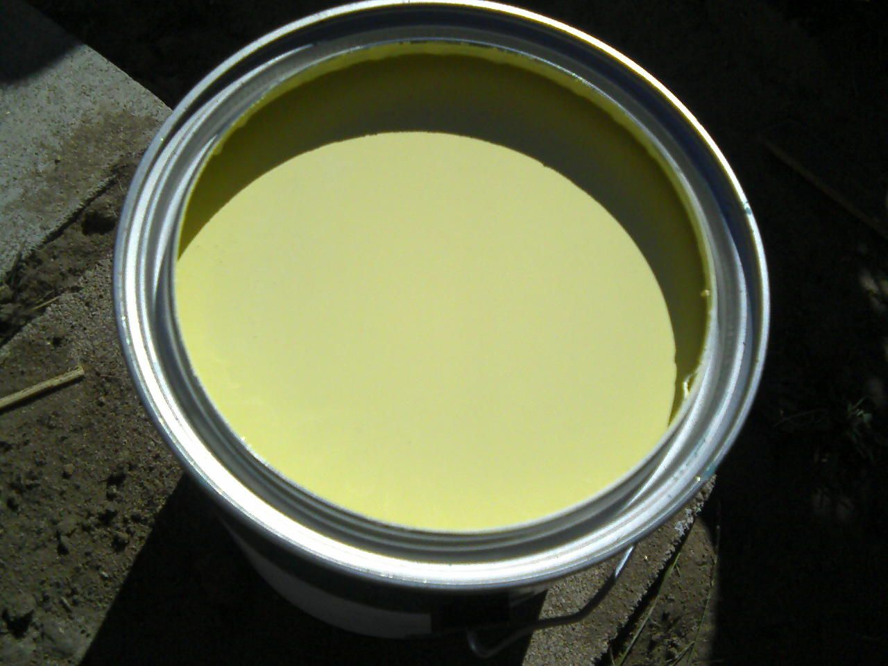 """martha stewart's """"mimosa"""" paint color- a beautiful chartreuse"""