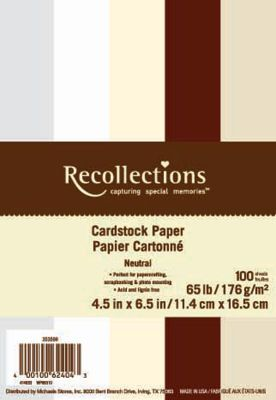 Recollections 4 5 X 6 5 Value Pack Cardstock Paper Neutral Cardstock Paper Recollections Invitations