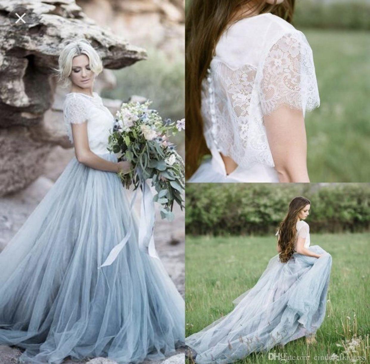 Blue plus size wedding dresses  Pin by MiLi on Bodas  Pinterest
