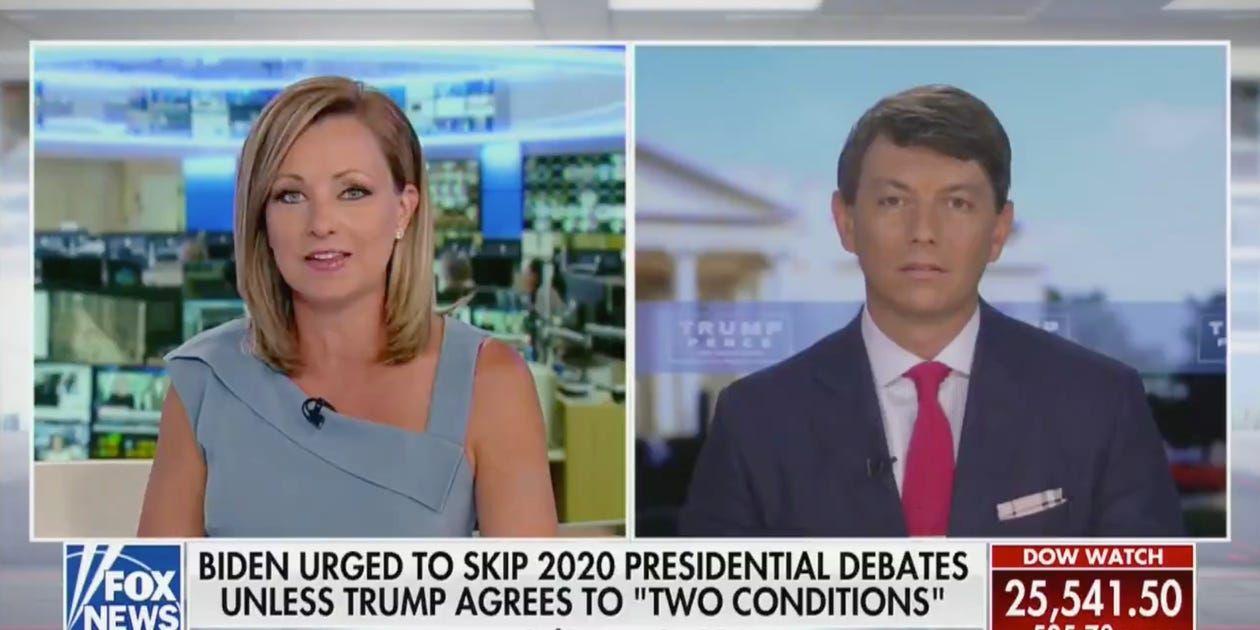 Fox Host Won T Touch Trump Campaign S Latest Attacks On Biden Business Insider In 2020 Fox News Hosts Trump Leg Hair
