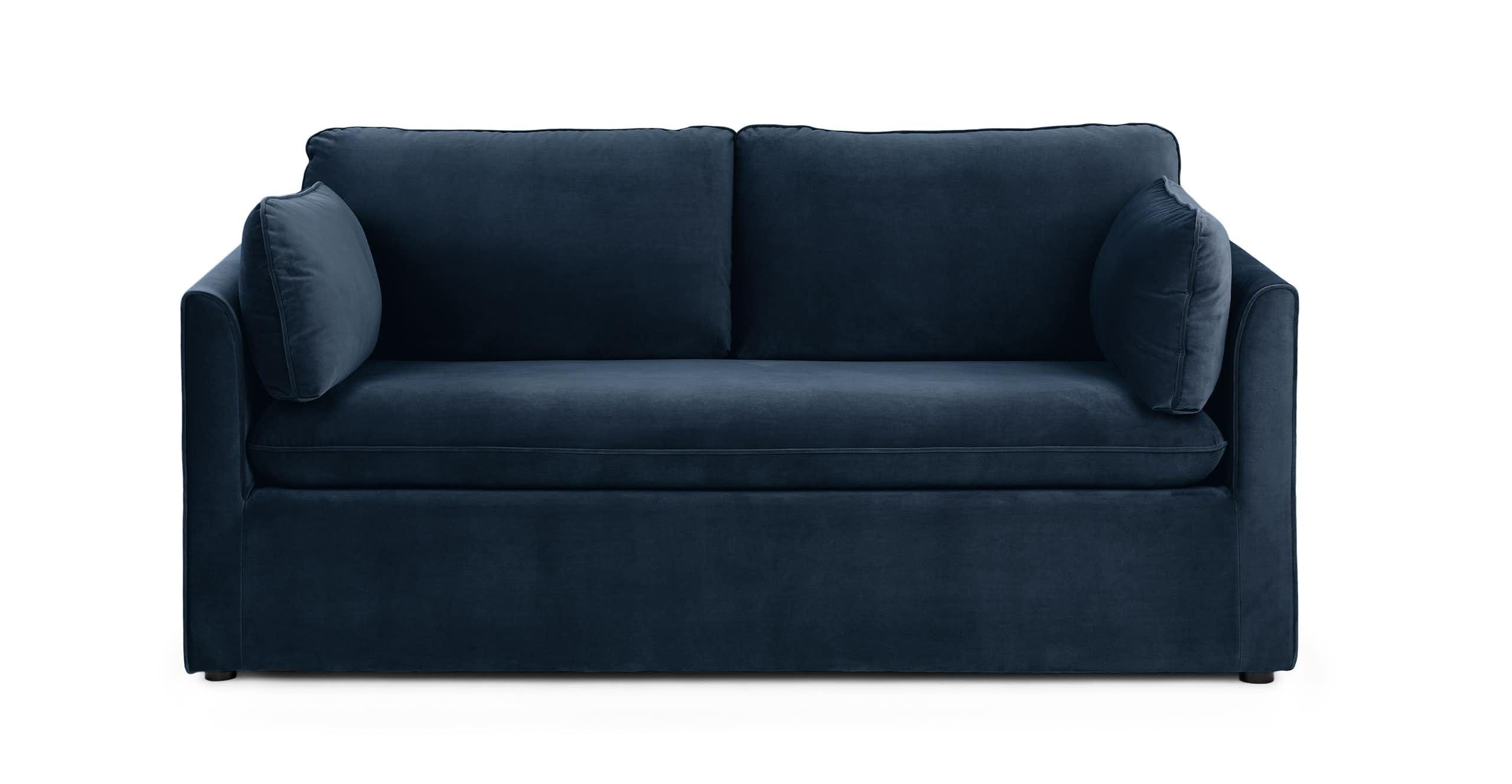 The Oneira Sofa Bed Modern Sleeper Sofa Mid Century Modern Sleeper Sofa Blue Sofa