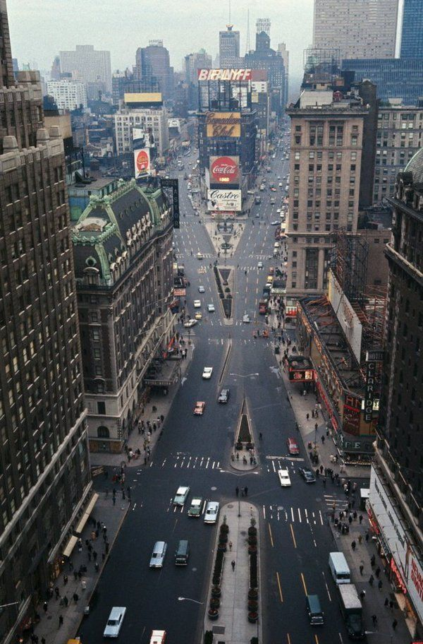 Aerial View of Times Square, 1967.