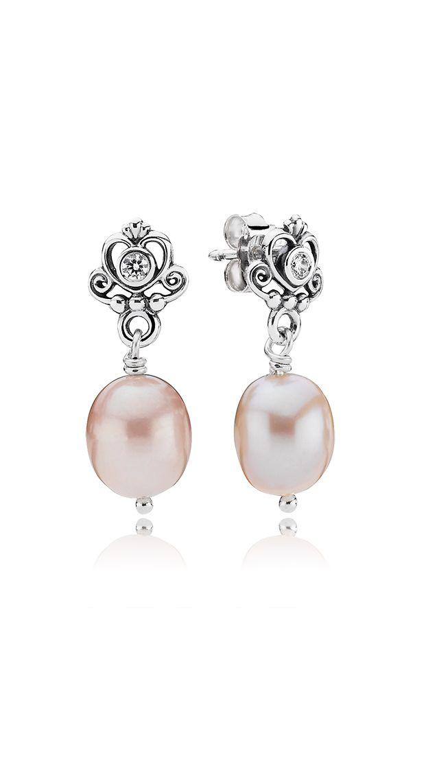 Pandora Pandora Earrings Pandora Pearl Silver Pearl Earrings