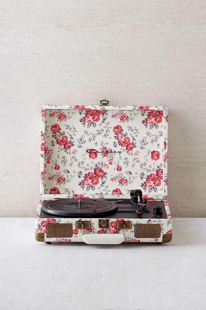 Charming Crosley X UO Cruiser Briefcase Portable Vinyl Record Player Floral Print