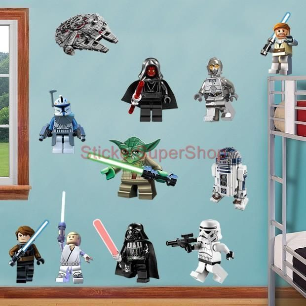 Star Wars Wall Decor Lego Star Wars 11 Characters Decal Removable Wall Sticker Home Decor