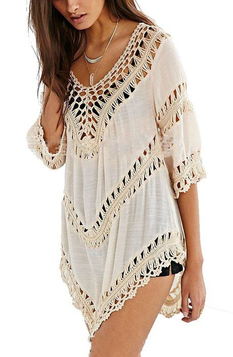 iNewbetter Womens Beach Dress Cover Up Beachwear Swimwear Shirt Top ...