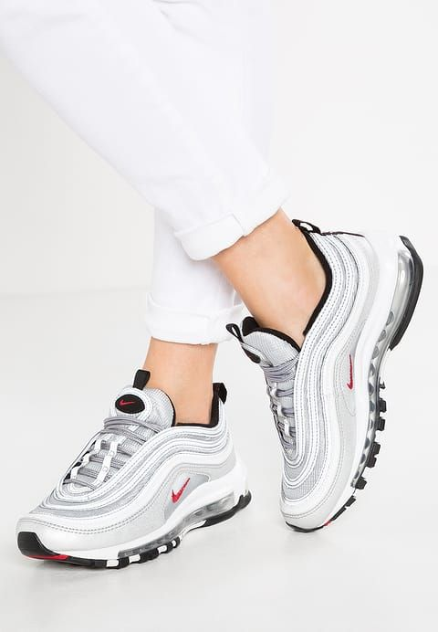 Chaussures Nike Sportswear AIR MAX 97 OG QS - Baskets basses - metallic  silver varsity red black argent  170 aca58e5bc
