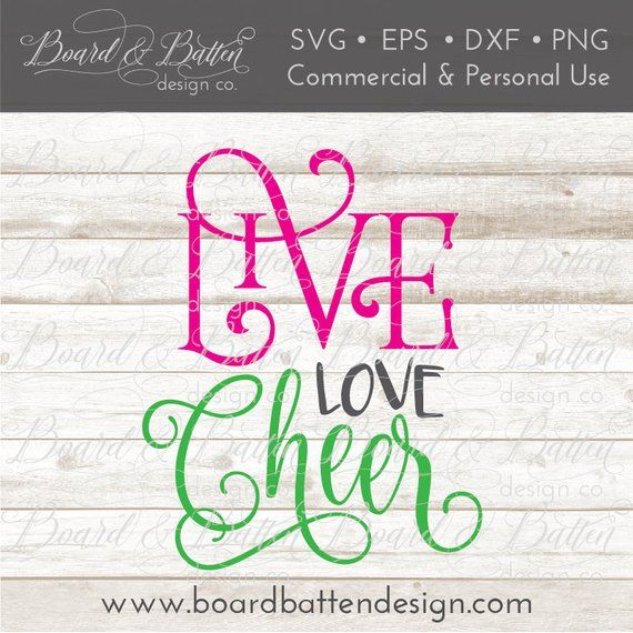Download Cheerleading SVG Files for Silhouette - Live Love Cheer ...