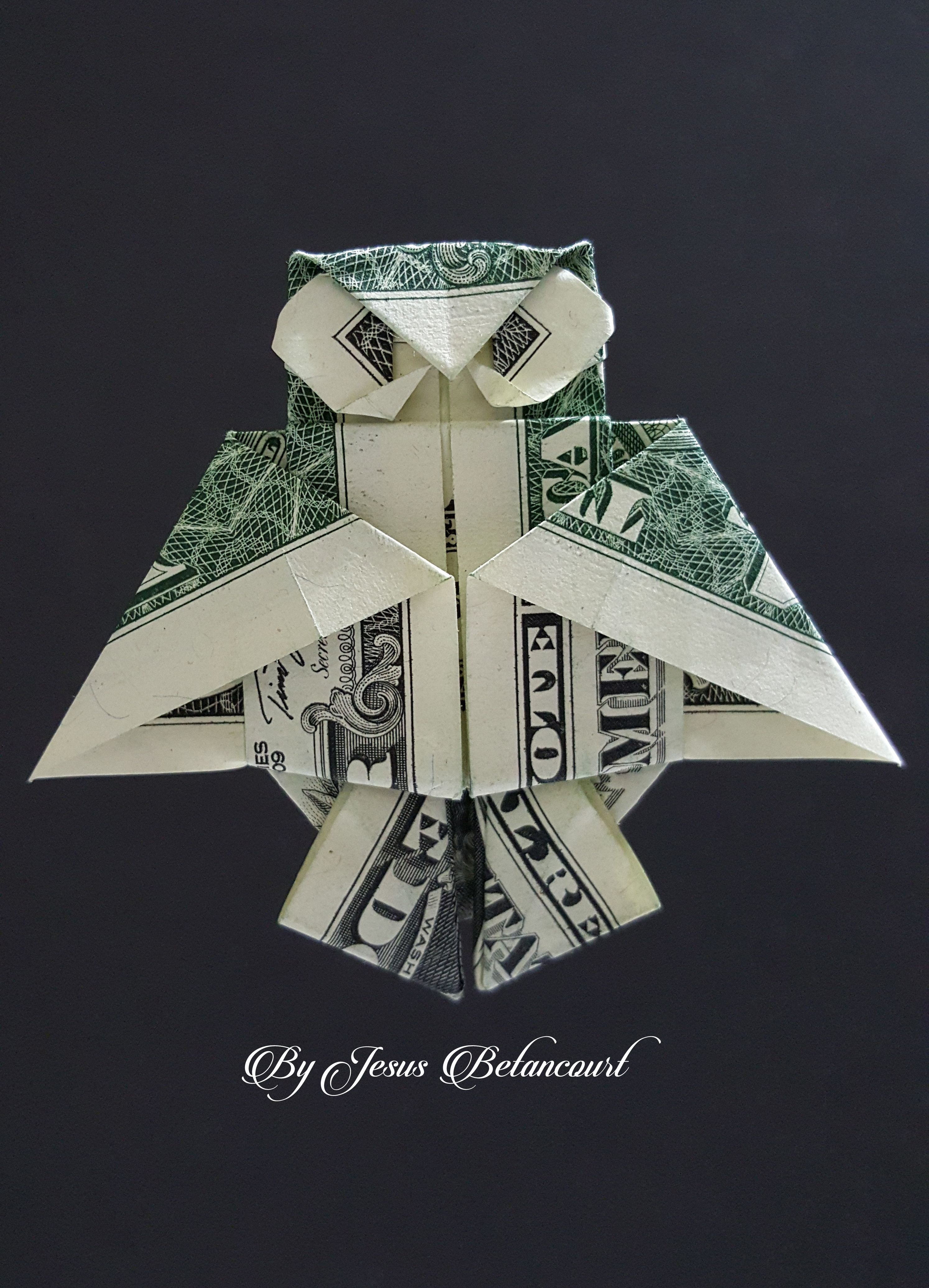Origami dollar bill owl | dollar origami | Money origami ... - photo#7