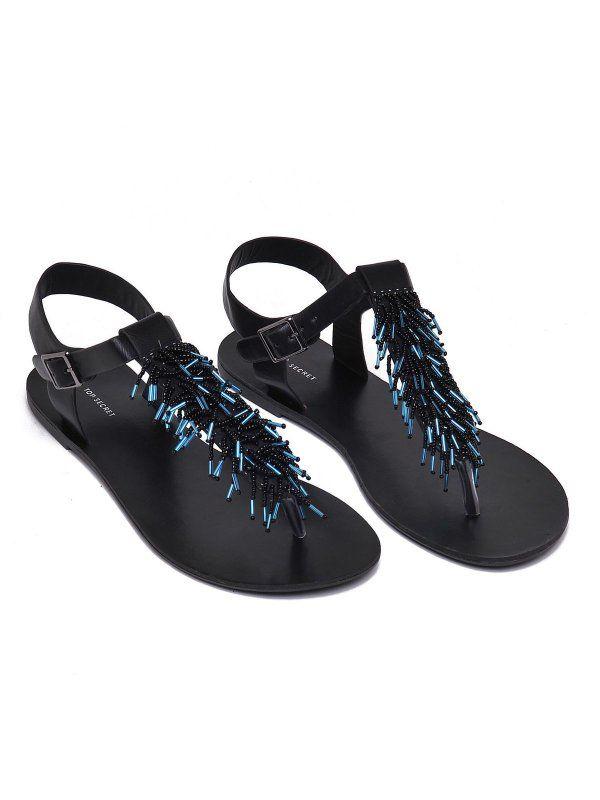 Buty Damskie Czarne Sbu0502 Sandaly Top Secret Odziezowy Sklep Internetowy Top Secret Shoes Sandals Fashion
