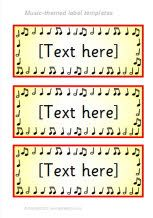 Music-themed classroom label templates (SB7711) - SparkleBox