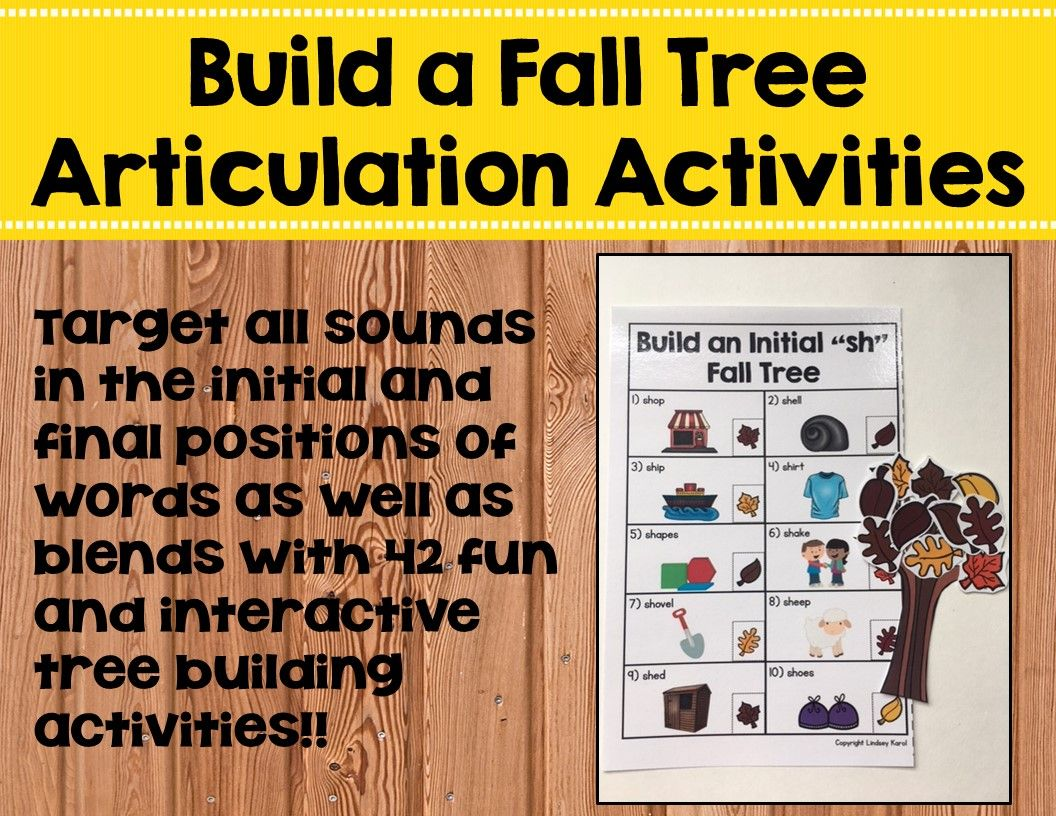 Build A Fall Tree Articulation Activities