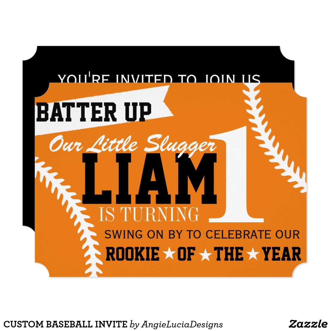 CUSTOM BASEBALL INVITE