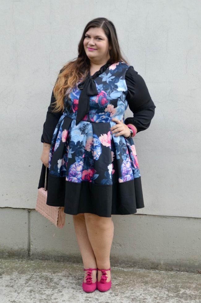 Plus... Kawaii! - A plus size fashion blog: Outfit: nero e fiorato
