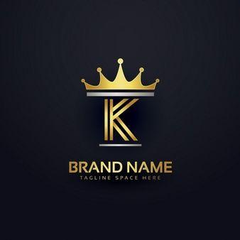 cd78fe60a Logotipo de la letra k con la corona de oro