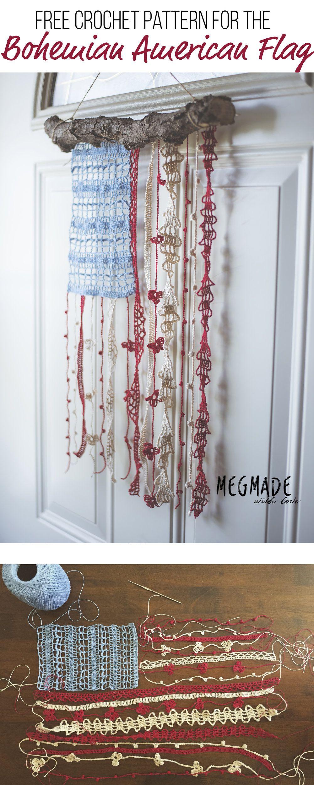 Bohemian American Flag Crochet Pattern | Pinterest