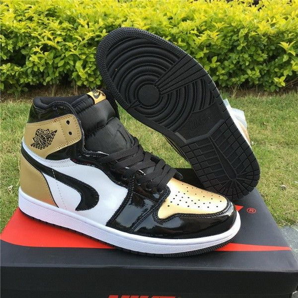 5dd4892546f57 Upside Down Swoosh Lands on the Air Jordan 1  Gold Toe  For Sale ...