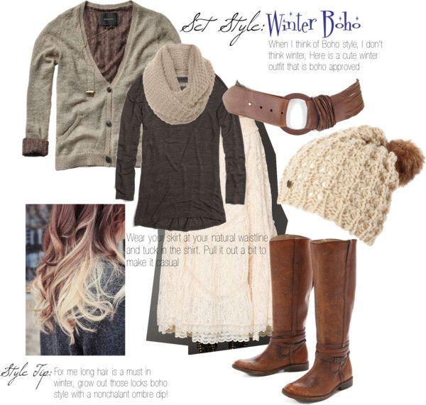 Boho Winter Outfits Cute