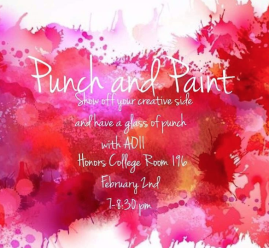 Fun Informal Recruitment Idea Punch And Paint College Event Ideas College Event Fundraising Ideas College