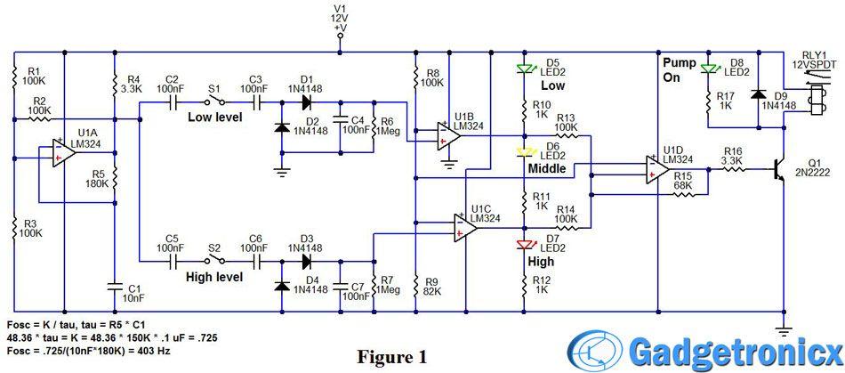 Sump Fill Pump Controller Circuit Sump Circuit Electronics Circuit
