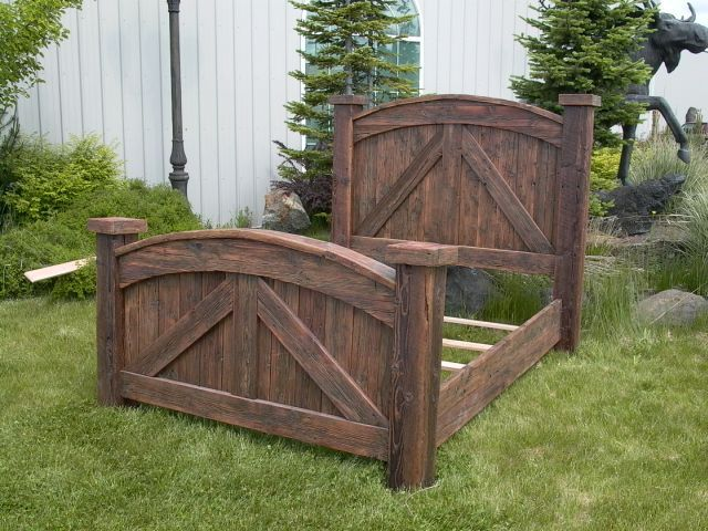 Made from old barn wood.  Wild West Log Furniture #WhereIsYoungAmerica #WildWildWest