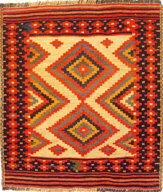 Captivating Kilim Rugs | Senneh Rugs: Stepped Diamond Medallion Sanandaj Kilim