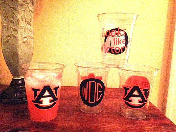Custom Auburn Solo Cups Perfect for Tailgates by LillyBowtique, $6.00