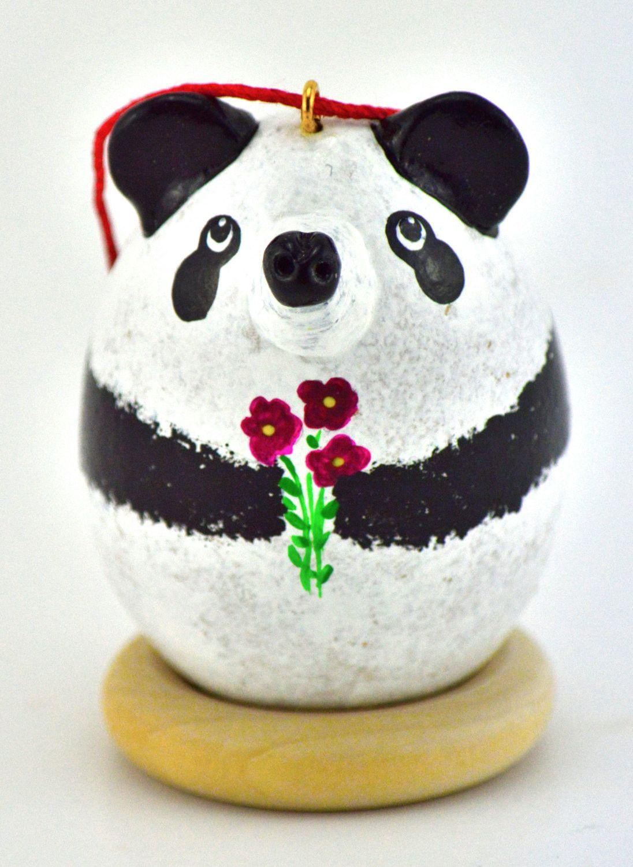 Panda, Gourd Art, Ornament, Panda Gift, Gifts for her, Christmas ...