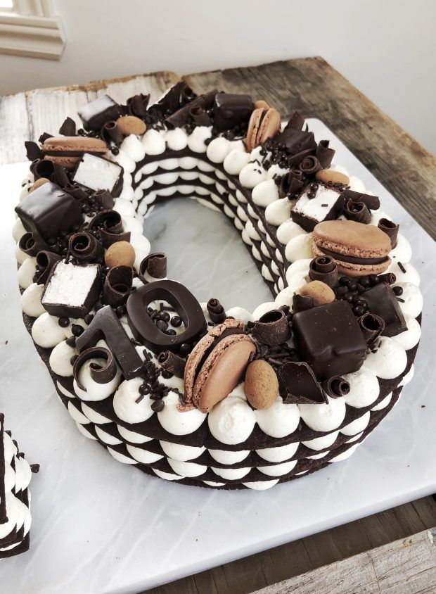 Chocolate Wafer Numbers Recipe Birthday Numbers Cakes