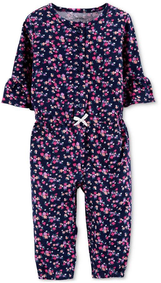 942f9c053 Carter's Carter Baby Girls Floral-Print Cotton Coverall in 2019 ...