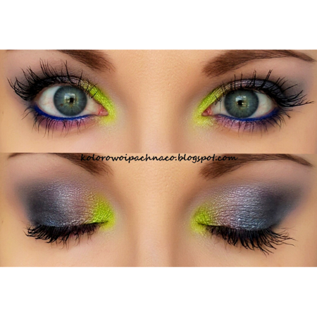 starry night  green eyeliner makeup cute eye makeup