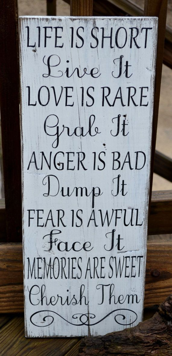 Inspirational Quote Home Decor Hand Painted Wood Sign Reclaimed