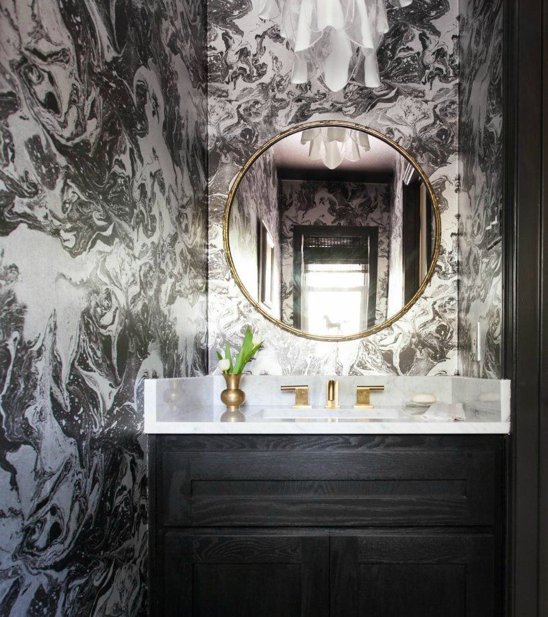 Stylish Powder Room Design Ideas that don t Cost the EarthStylish Powder Room Design Ideas that don t Cost the Earth  . Cost To Wallpaper Small Bathroom. Home Design Ideas