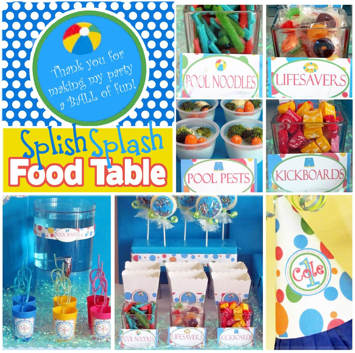 Pool Party Favors Ideas pool party favors beach baskets inflatable dolphins personalized cups Pool Party Pool Food