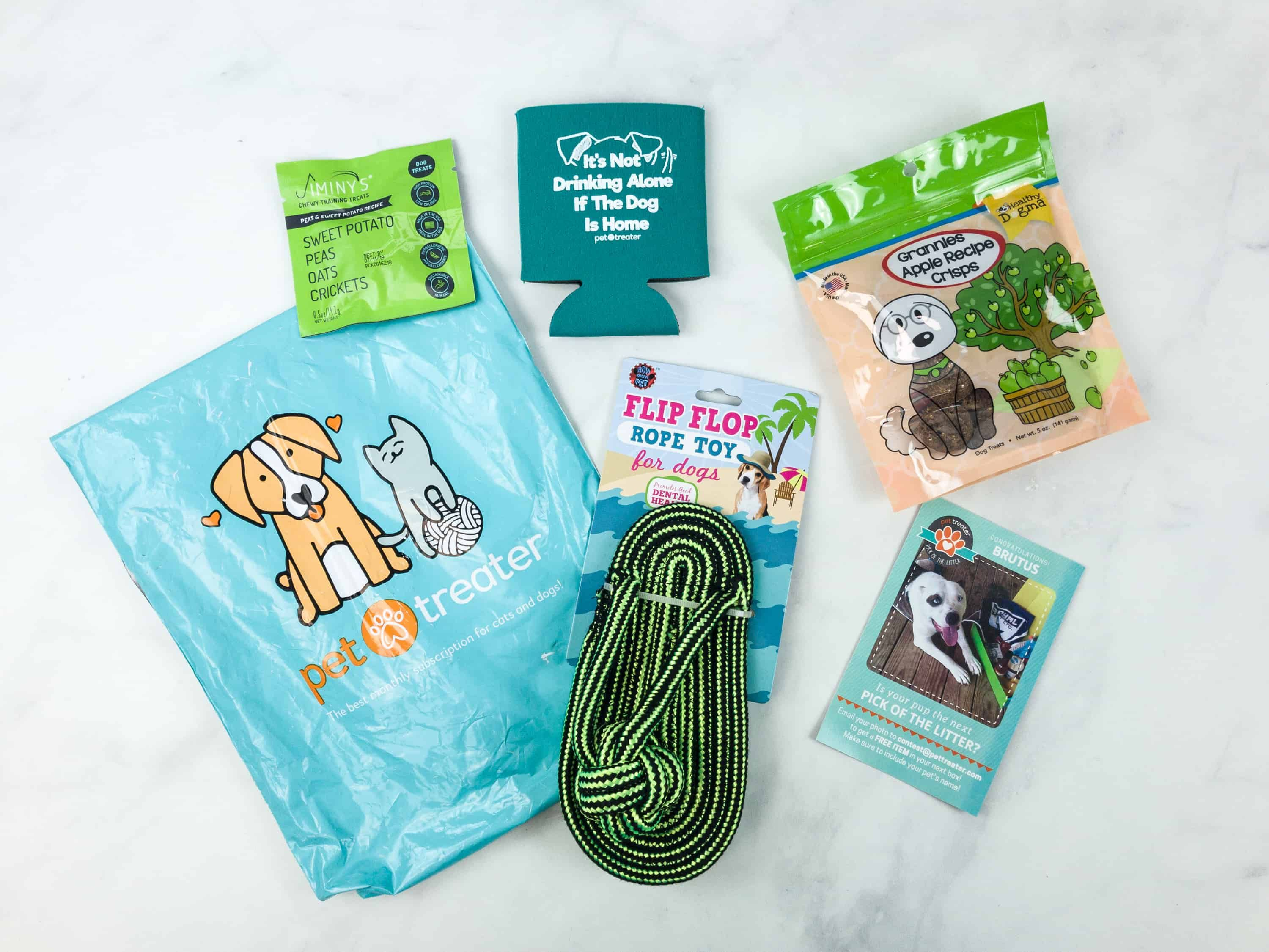 Pet Treater Dog Pack August 2018 Subscription Box Review