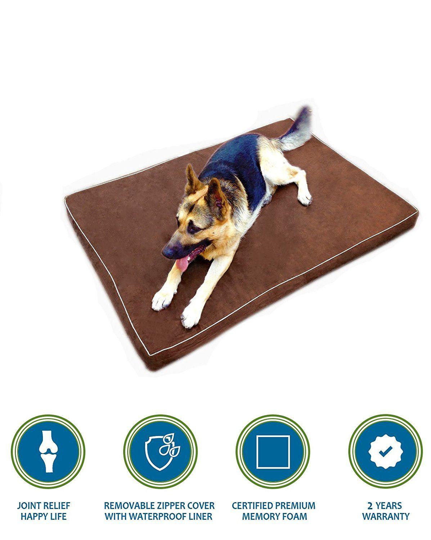 PetBed4Less Premium Orthopedic Memory Foam Pet Bed Dog Bed