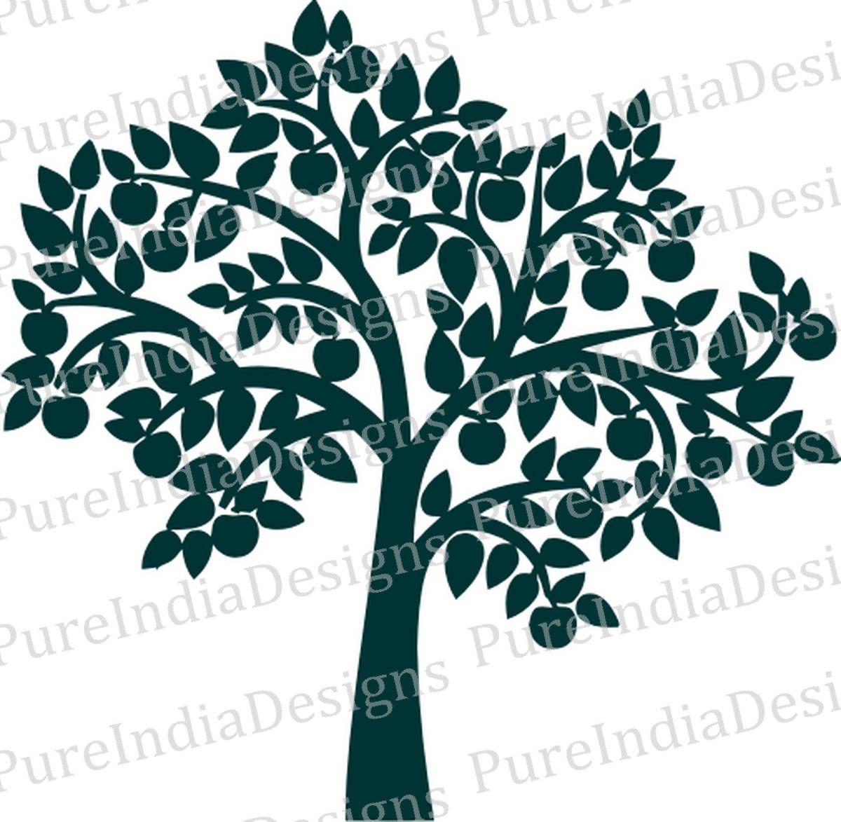 Apple Tree Svg Tree Wall decal Tree Digital file Family