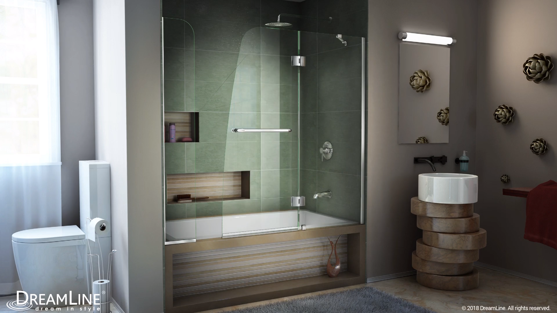 Dreamline Aqua Frameless Hinged Tub Door Video In 2020 Bathroom Design Luxury Bathroom Interior Design Small Bathroom Remodel