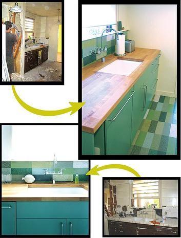 Marmoleum Floor And Backsplash Idea This Kitchen Owner